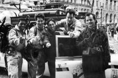 Ernie Hudson, Harold Ramis, Ivan Reitman, Dan Aykroyd, Bill Murray - GHOSTBUSTERS (1984)